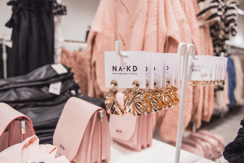 Na-kd pop up store på Söder i Helsingborg